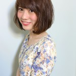 流し前髪が可愛いシンプルなボブ☆(石川正人)