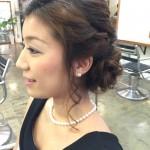 編み込み&くるりんぱで結婚式アップスタイル@銀座ANTERET