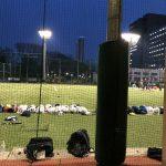 夜サッカー^^